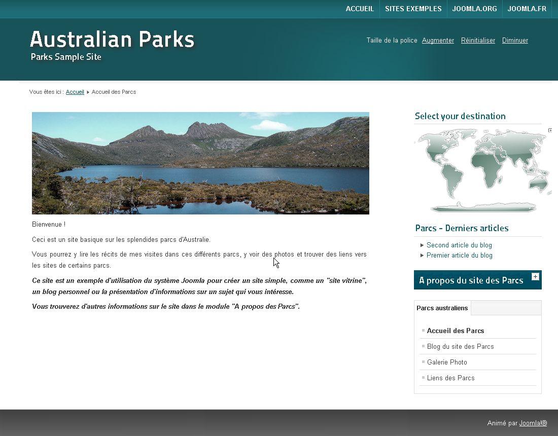Joomla clickable world map