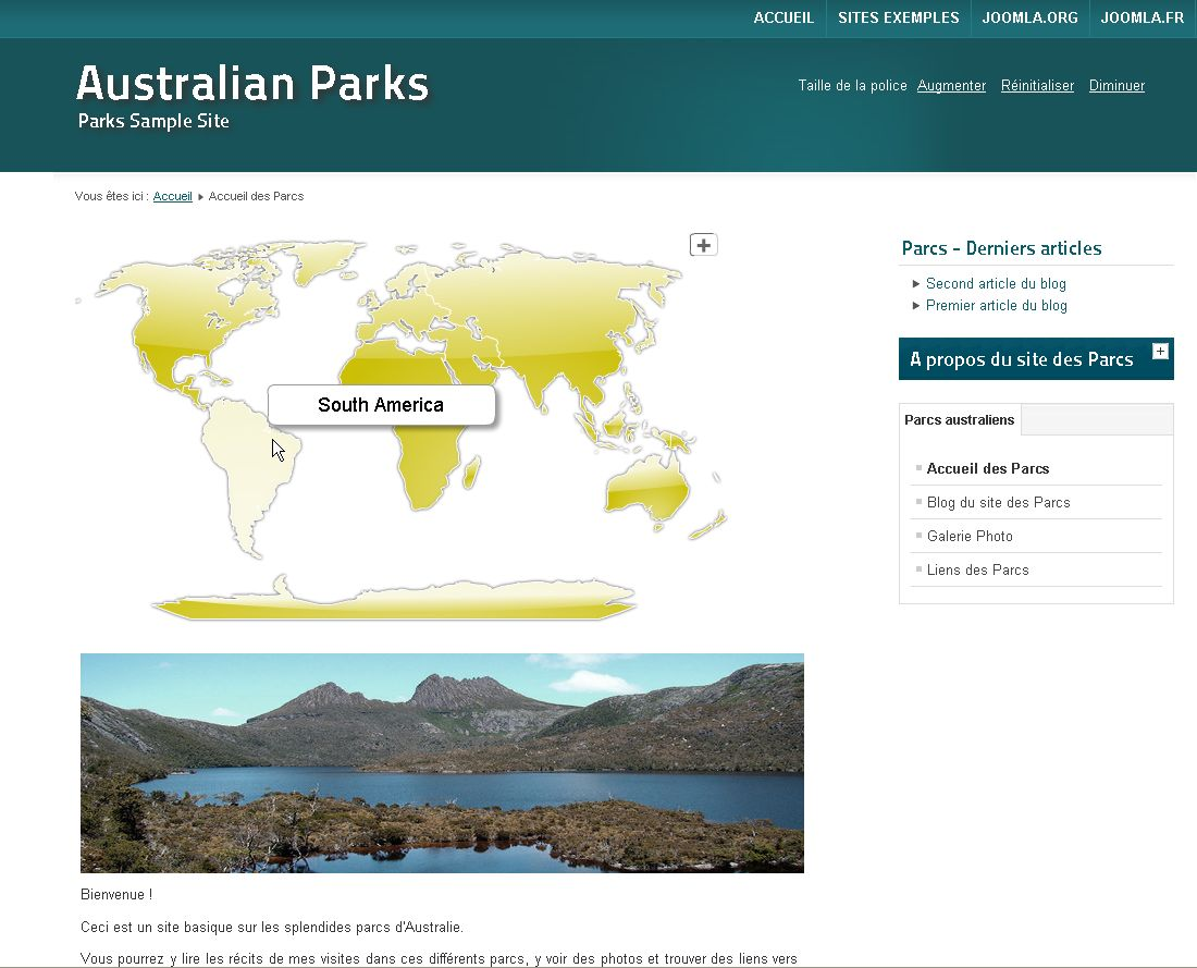 Joomla interactive world map
