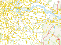Sample map of Greater London roads